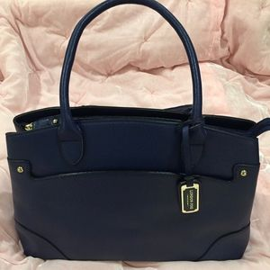 NWOT London Fog Royal Blue Structured Purse